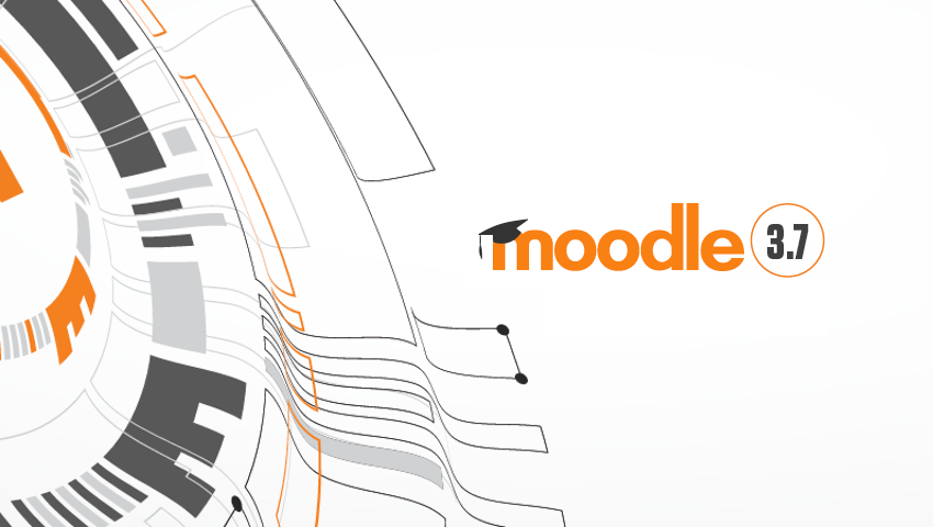 alt=Moodle orange and gray logo for the 3.7 version